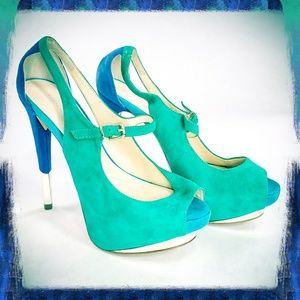 Boutique 9 Nickeya Mary Jane Platform Heels Sz 8M